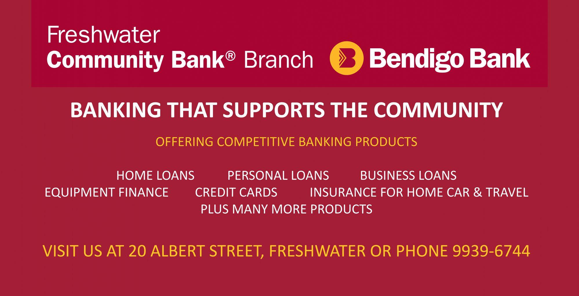 Freshwater Community Bank - Branch of Bendigo Bank